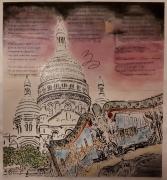 tableau sacre coeur paris montmartre : Montmartre