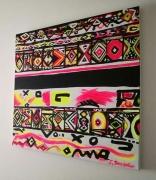 tableau abstrait abstrait ethnique africain contemporain : AFRICA