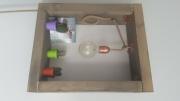 artisanat dart autres lampe bois artisanale vintage : lampe bois cuivre