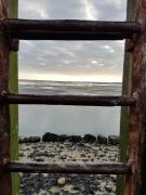 photo paysages noirmoutier gois echelle mer : nuance du gois