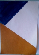 tableau abstrait : Triangles