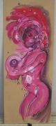 dessin femme corps deco acrylique : pink lady