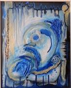 """tableau autres arts plastiques acrylique encre matieres : """"Spéléo"""""""