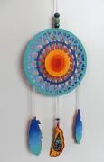 tableau autres perle posca bois symbolique : rêve amérindien