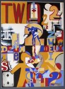 """tableau arts plastiques danse love acrylique : """"Dualityy"""""""