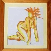 """dessin nus femme corps paste soleil : """"nu ensoleillé"""""""