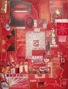 tableau autres arts plastiques symbole collage acrylique : ''Rougissement