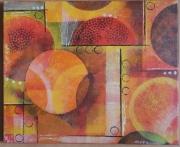tableau abstrait tableau abstrait acrylique orange : Abstrait3