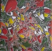 tableau tableau jardin abstrait acrylique : Jardin abstrait