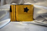 art textile mode pochette patchwork simili cuir organisateur de sac : pochette patchwork en simili cuir