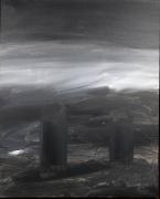 tableau paysages paysage contemporain bezos acrylique : les deux jumelles