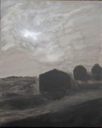 tableau paysages paysage contemporain bezos acrylique : perspective à 3
