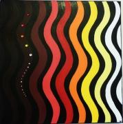 tableau abstrait vague couleur moderne : Wave of colors