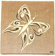 tableau animaux papillon tribal arabesque : Petit papillon