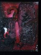 tableau abstrait ange demon noir : Black spirit