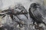 tableau animaux animaux : Les corbeaux