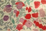 """tableau fleurs : """"Roses pour la vie """""""