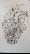 tableau autres crayon papier coeur : Nature Coeur