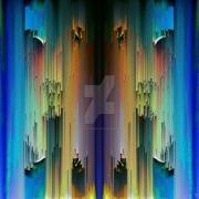 art numerique abstrait abstrait abstract zen psychedelique : Couleurs coulantes