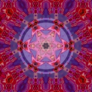 art numerique autres rouge abstrait video art : Six directions vers l'Ether