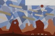 tableau paysages minimaliste poly art cubisme montagne : ce que m'a fait l'Amérique