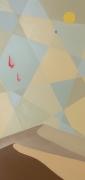 tableau paysages minimaliste desert poly art dunes : Ces deux choses