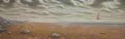 tableau paysages plage vaisseau nuage mer : Amaré