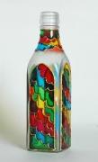 """ceramique verre abstrait verre bouteille abstrait geometrique : Bouteille carré """"Nuages"""""""