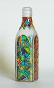 """ceramique verre abstrait v b abstrait g : Bouteille carré """"Losanges"""""""