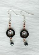 bijoux abstrait boucles d oreil noir hematite : Boucles d'oreilles