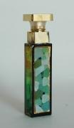 """ceramique verre abstrait flacon verre abstrait : Flacon de parfum décoré """"Petite tour verte"""""""