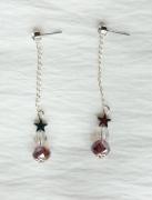 jewelry abstrait boucles d oreil mauve etoile : Boucles d'oreilles