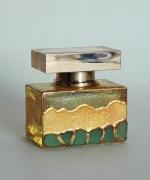 """ceramique verre abstrait flacon verre abstrait : Flacon de parfum décoré """"Petite vague"""""""