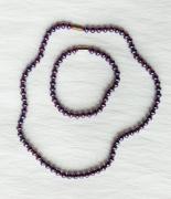 bijoux abstrait collier bracelet bleu rouge : Collier et bracelet