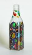 """ceramique verre abstrait verre bouteille abstrait geometrique : Bouteille carré """"Cercles"""""""