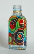 """ceramique verre abstrait verre bouteille cercle geometrique : Petite bouteille """"Cercles"""""""