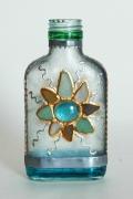 """ceramique verre b soleil verre abstrait : Petite bouteille plate """"Soleil"""" nr 2"""