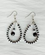 jewelry abstrait boucles d oreil noir bl : Boucles d'oreilles