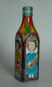 ceramique verre personnages anges bouteille verre musique : Les anges musiciens