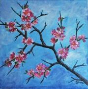 painting fleurs fleurs branche printemps : La branche fleurie