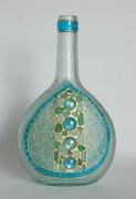 """ceramique verre abstrait verre bouteille byzance carafe : Bouteille- carafe """"Byzance"""""""
