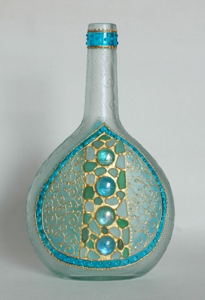 """CéRAMIQUE, VERRE verre bouteille Byzance carafe Abstrait  - Bouteille- carafe """"Byzance"""""""