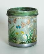 """ceramique verre fleurs photophore fleurs vegetal pre : Photophore """"Le pré"""" nr 2"""