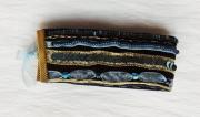 bijoux abstrait bracelet manchette bleu : Bracelet manchette