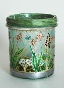"""ceramique verre fleurs photophore fleurs vegetal ,p : Photophore """"Le pré"""" nr 3"""