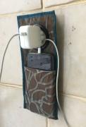 textile clothing abstrait pochette telephone chargeur : Pochette pour smartphone