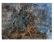 deco design abstrait : Paillage bleu