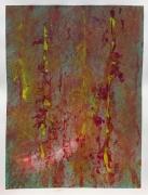 tableau abstrait : Broussailles colorées