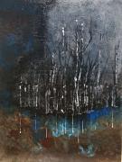 tableau abstrait : Reflet