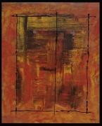 tableau abstrait : Fenetre sur toile